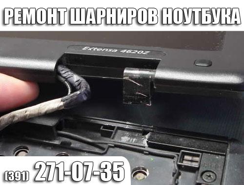 Ремонт, замена шарниров ноутбука в Красноярске.